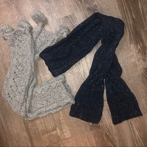 ❄️Grey and Navy Scarf Bundle❄️